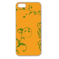 Nature Leaf Green Orange Apple Seamless Iphone 5 Case (clear) by Alisyart
