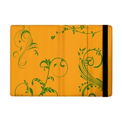 Nature Leaf Green Orange Apple Ipad Mini Flip Case by Alisyart