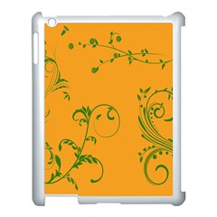 Nature Leaf Green Orange Apple Ipad 3/4 Case (white)