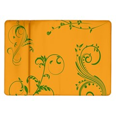 Nature Leaf Green Orange Samsung Galaxy Tab 10 1  P7500 Flip Case