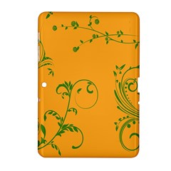 Nature Leaf Green Orange Samsung Galaxy Tab 2 (10 1 ) P5100 Hardshell Case  by Alisyart