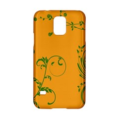 Nature Leaf Green Orange Samsung Galaxy S5 Hardshell Case  by Alisyart