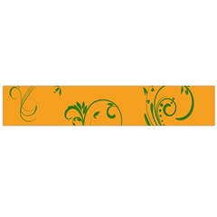 Nature Leaf Green Orange Flano Scarf (large) by Alisyart