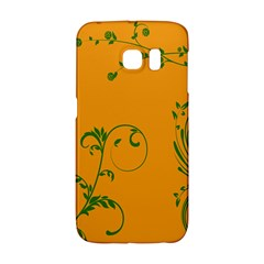 Nature Leaf Green Orange Galaxy S6 Edge by Alisyart