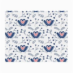 Heart Love Valentine Flower Floral Purple Small Glasses Cloth
