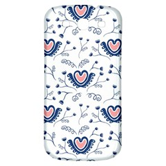 Heart Love Valentine Flower Floral Purple Samsung Galaxy S3 S Iii Classic Hardshell Back Case by Alisyart