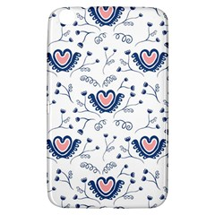 Heart Love Valentine Flower Floral Purple Samsung Galaxy Tab 3 (8 ) T3100 Hardshell Case  by Alisyart