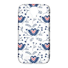 Heart Love Valentine Flower Floral Purple Samsung Galaxy S4 Classic Hardshell Case (pc+silicone) by Alisyart