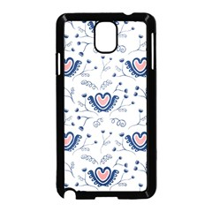 Heart Love Valentine Flower Floral Purple Samsung Galaxy Note 3 Neo Hardshell Case (black)