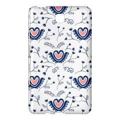 Heart Love Valentine Flower Floral Purple Samsung Galaxy Tab 4 (7 ) Hardshell Case  by Alisyart