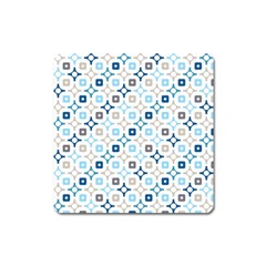 Plaid Line Chevron Wave Blue Grey Circle Square Magnet