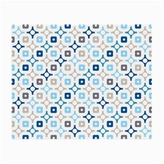 Plaid Line Chevron Wave Blue Grey Circle Small Glasses Cloth (2 Side) by Alisyart