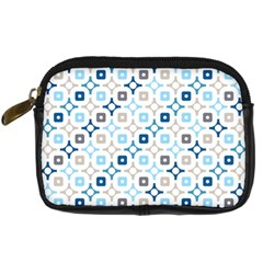 Plaid Line Chevron Wave Blue Grey Circle Digital Camera Cases