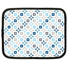 Plaid Line Chevron Wave Blue Grey Circle Netbook Case (xxl)  by Alisyart