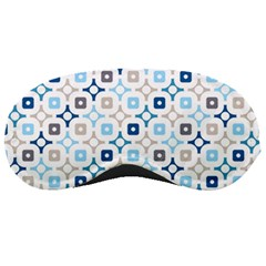 Plaid Line Chevron Wave Blue Grey Circle Sleeping Masks by Alisyart