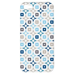 Plaid Line Chevron Wave Blue Grey Circle Apple Iphone 5 Hardshell Case by Alisyart