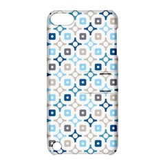 Plaid Line Chevron Wave Blue Grey Circle Apple Ipod Touch 5 Hardshell Case With Stand