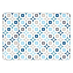 Plaid Line Chevron Wave Blue Grey Circle Samsung Galaxy Tab 8 9  P7300 Flip Case by Alisyart
