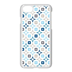 Plaid Line Chevron Wave Blue Grey Circle Apple Iphone 7 Seamless Case (white) by Alisyart