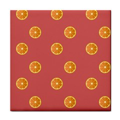 Oranges Lime Fruit Red Circle Tile Coasters by Alisyart