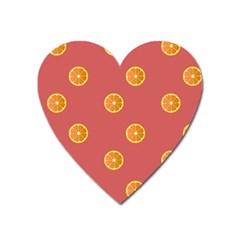 Oranges Lime Fruit Red Circle Heart Magnet by Alisyart