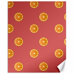 Oranges Lime Fruit Red Circle Canvas 16  X 20   by Alisyart