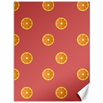 Oranges Lime Fruit Red Circle Canvas 36  x 48   48 x36 Canvas - 1