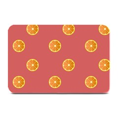 Oranges Lime Fruit Red Circle Plate Mats by Alisyart