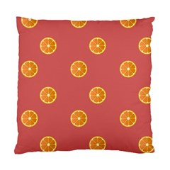Oranges Lime Fruit Red Circle Standard Cushion Case (two Sides)