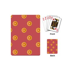 Oranges Lime Fruit Red Circle Playing Cards (mini)  by Alisyart