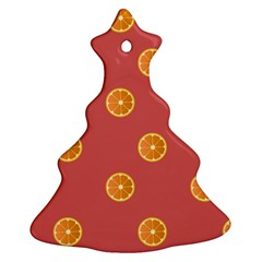 Oranges Lime Fruit Red Circle Ornament (christmas Tree)  by Alisyart
