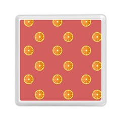 Oranges Lime Fruit Red Circle Memory Card Reader (square)