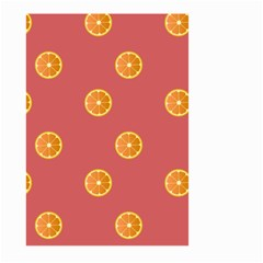 Oranges Lime Fruit Red Circle Large Garden Flag (two Sides) by Alisyart
