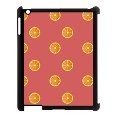 Oranges Lime Fruit Red Circle Apple Ipad 3/4 Case (black) by Alisyart