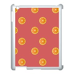 Oranges Lime Fruit Red Circle Apple Ipad 3/4 Case (white)