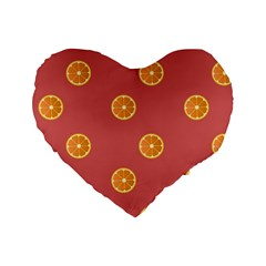 Oranges Lime Fruit Red Circle Standard 16  Premium Heart Shape Cushions by Alisyart
