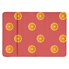 Oranges Lime Fruit Red Circle Samsung Galaxy Tab 8 9  P7300 Flip Case by Alisyart