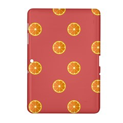 Oranges Lime Fruit Red Circle Samsung Galaxy Tab 2 (10 1 ) P5100 Hardshell Case  by Alisyart