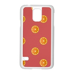 Oranges Lime Fruit Red Circle Samsung Galaxy S5 Case (white) by Alisyart