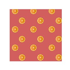 Oranges Lime Fruit Red Circle Small Satin Scarf (square) by Alisyart