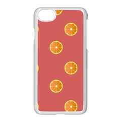 Oranges Lime Fruit Red Circle Apple Iphone 7 Seamless Case (white) by Alisyart