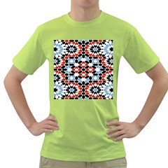 Oriental Star Plaid Triangle Red Black Blue White Green T Shirt by Alisyart