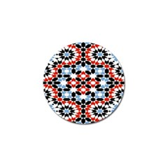 Oriental Star Plaid Triangle Red Black Blue White Golf Ball Marker (10 Pack) by Alisyart