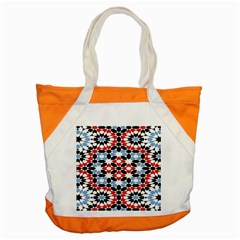 Oriental Star Plaid Triangle Red Black Blue White Accent Tote Bag by Alisyart