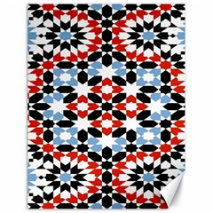 Oriental Star Plaid Triangle Red Black Blue White Canvas 18  X 24