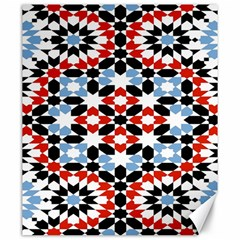Oriental Star Plaid Triangle Red Black Blue White Canvas 20  X 24   by Alisyart