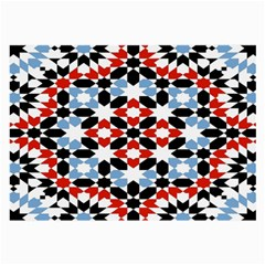 Oriental Star Plaid Triangle Red Black Blue White Large Glasses Cloth