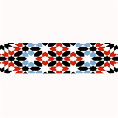 Oriental Star Plaid Triangle Red Black Blue White Large Bar Mats by Alisyart