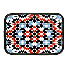 Oriental Star Plaid Triangle Red Black Blue White Netbook Case (medium)  by Alisyart