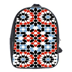 Oriental Star Plaid Triangle Red Black Blue White School Bags(large)  by Alisyart